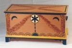 Pennsylvania-German folk art blanket box, reproduced for Joseph Schneider Haus schools program