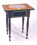 Painted pine work table