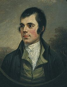 Best known portrait of Robert Burns, by Alexander Nasmyth, 1787 by