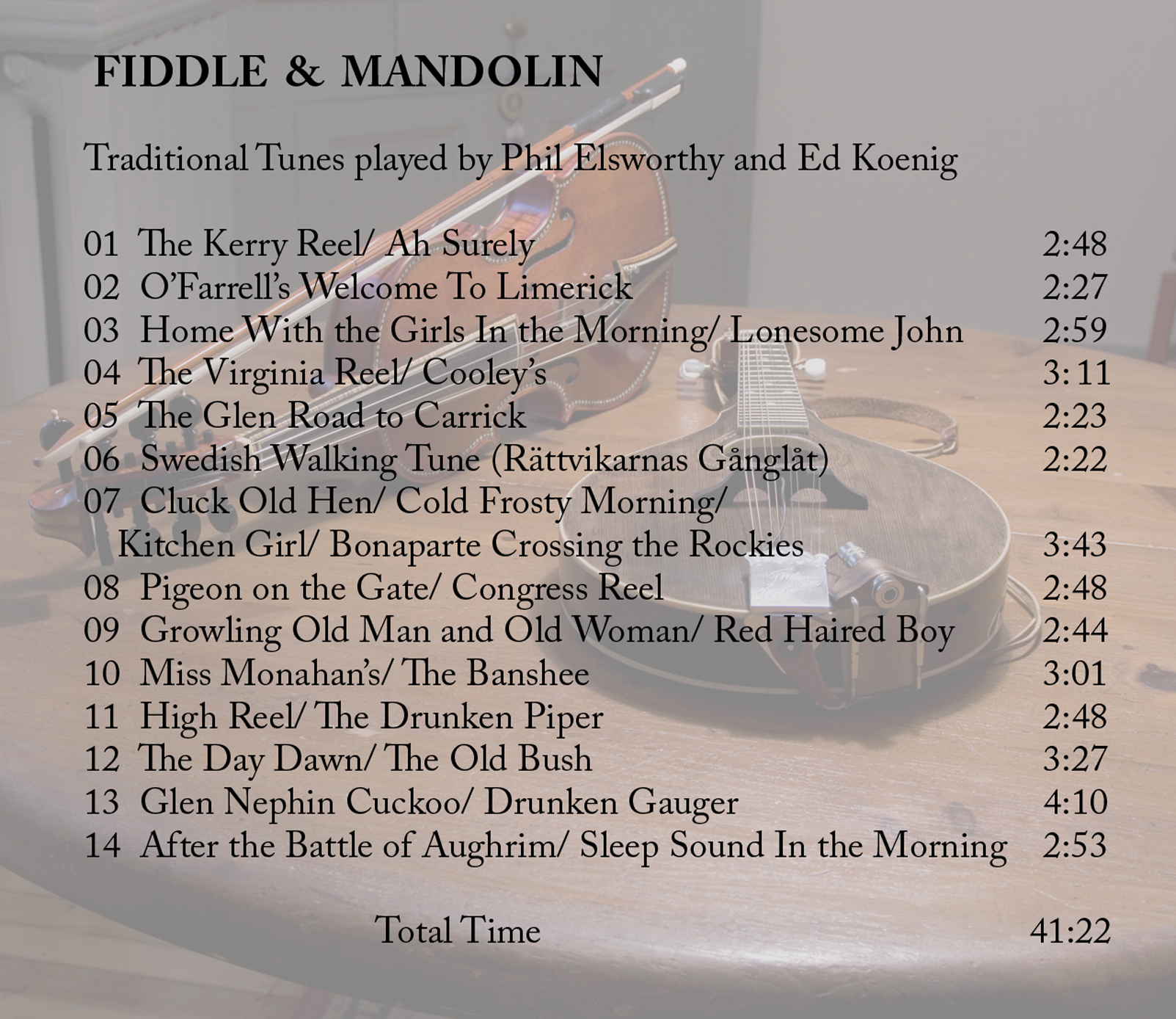 fiddle and mandolin back cover with text